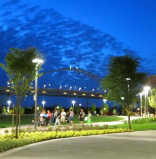 The Fields park.
