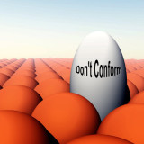 """illustration with words """"Don't Conform"""""""