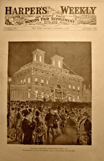 cover of Harper's Weekly on World's Columbian Exposition
