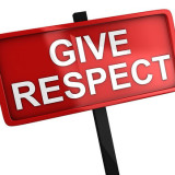 sign that says give respect