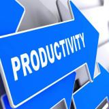 "arrow with the word ""Productivity"""