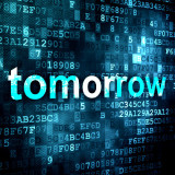 """graphic of the word """"tomorrow"""""""