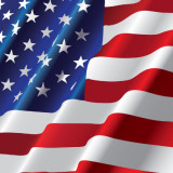 portion of the American flag