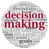 """word cloud highlighting words """"decision making"""""""