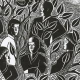Illustration by Paul Hoffman for PlannersWeb - volunteers in tree