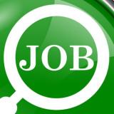 Word job inside a white circle