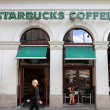 photo of attractive Starbucks coffee house in building reuse