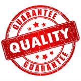 graphic of a quality guarantee stamp