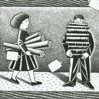 Consultants illustration by Paul Hoffman for PlannersWeb