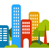 simple illustration of downtown housing