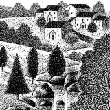 subdivision and open space; illustration by Paul Hoffman