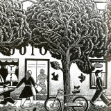Street trees downtown illustration by Paul Hoffman for PlannersWeb