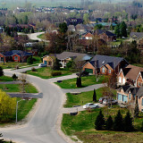 photo of portion of a residential housing development in the countryside