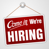 Come In - We're Hiring sign