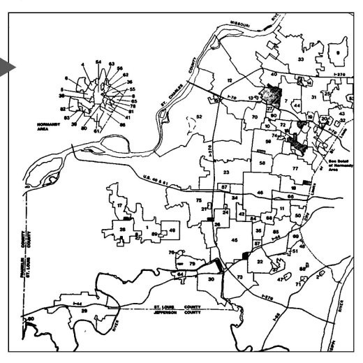 St. Louis metro area jurisdictions.