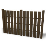 simple drawing of a fence