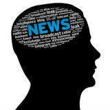 """silhouette of a head with the word """"news"""" visible"""