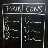 blackboard for listing pros and cons