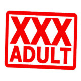 """stamp with words """"XXX Adult"""""""