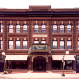 Historic theater in downtown Cedar Falls, Iowa.