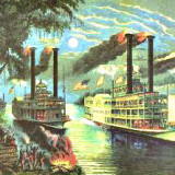 steamboat image from Currier & Ives print