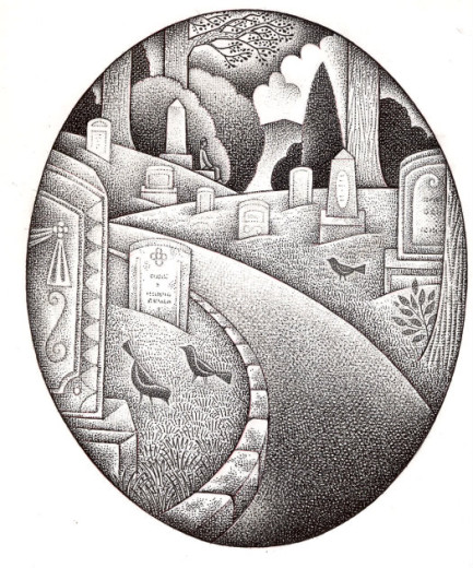 Illustration by Paul Hoffman for Planning for Cemeteries article