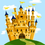 cartoon of a disney like castle - for article on McMansions