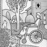Man in wheelchair; illustration by Paul Hoffman for PlannersWeb