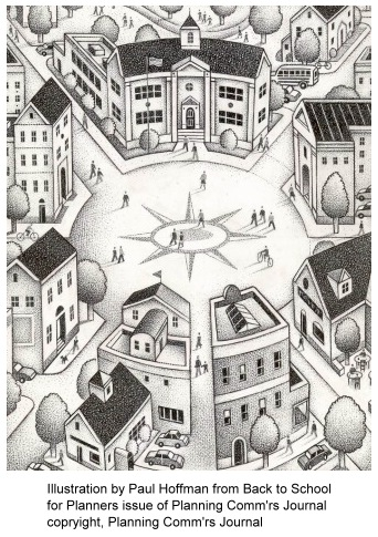 illustration by Paul Hoffman for the Planning Comm'rs Journal