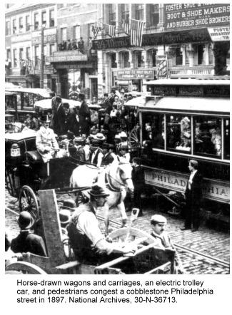 Trolley car in Philadelphia