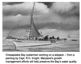 painting of a Maryland skipjack.