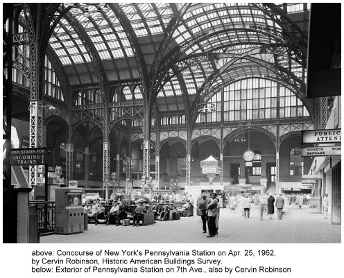 Interior of the old Pennsylvania Station in New York City