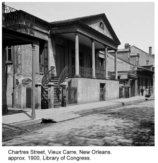 photo in Vieux Carre neighborhood of New Orleans