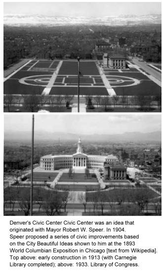 photos of Denver Civic Center under construction