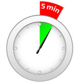 graphic of a timer set for 5 minutes