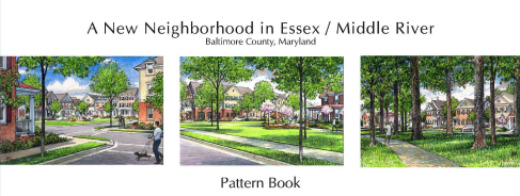 Cover page of a pattern book for a Baltimore neighborhood.