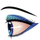image of a single blue eye