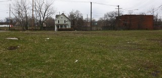 """Another view of vacant land in Cleveland's """"Forgotten Triangle"""" neighborhood"""