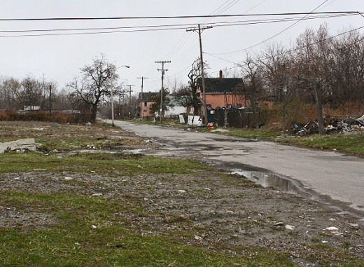 """Vacant land in Cleveland's """"Forgotten Triangle"""" neighborhood"""