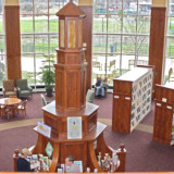 view inside Hudson, Ohio, library
