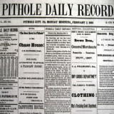 front page of old edition of Pithole Daily Record newspaper