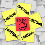 sticky notes that say: to do, everything