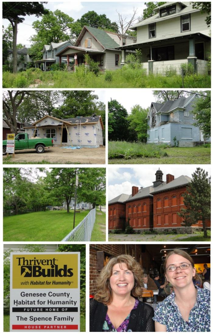 composite of photos of housing in Flint