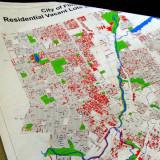 Map showing vacant lots in Flint, Michigan