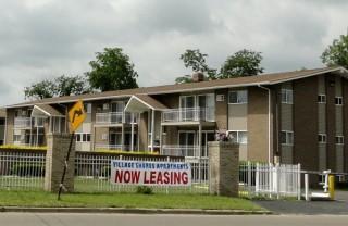 Small housing complex in Flint