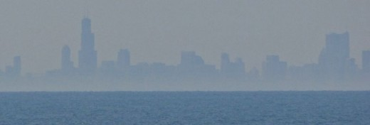 Chicago skyline visible in the distance