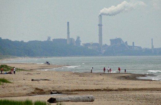 View from Dunbar Beach in Indiana Dunes National Lakeshore