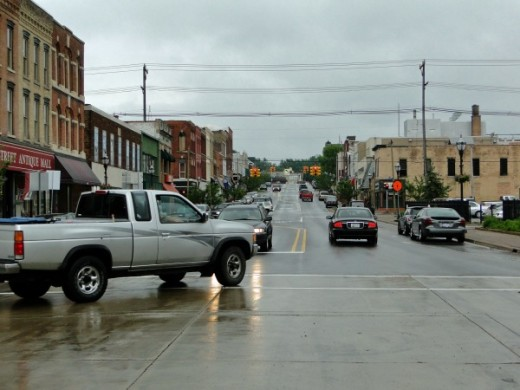 View of Main Street in Niles