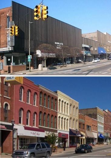 Views along Main Street in Niles, Michigan