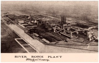 Postcard of River Rouge Plant